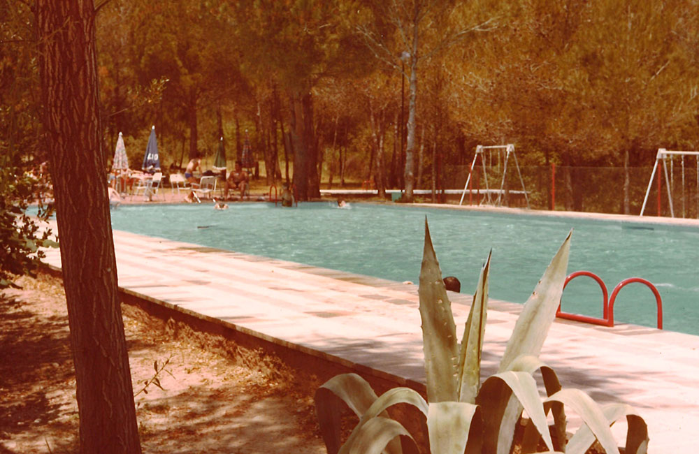 Esponellà Campsite's pool several decades ago