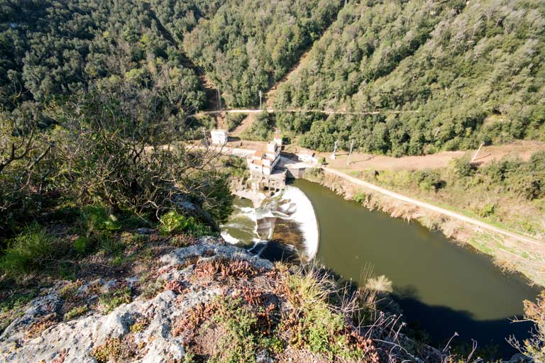 Martís' dam from the mountain
