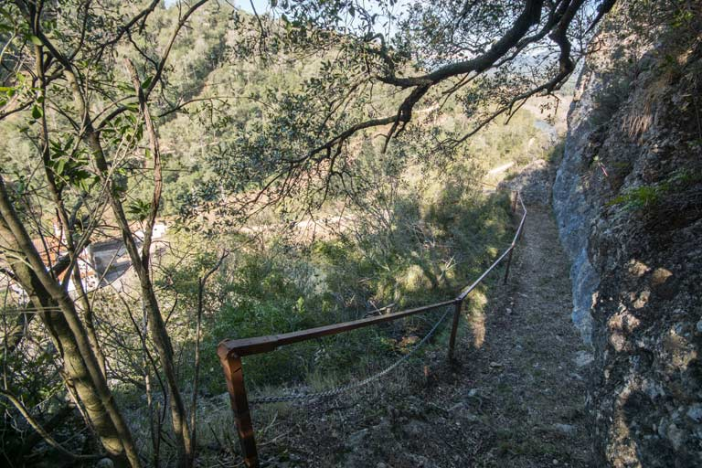 The way to Sant Miquel de la Roca